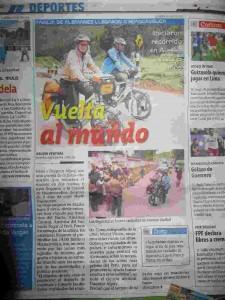 Zeitungsbericht im Correo Huancavelica 18. Dezember 2011
