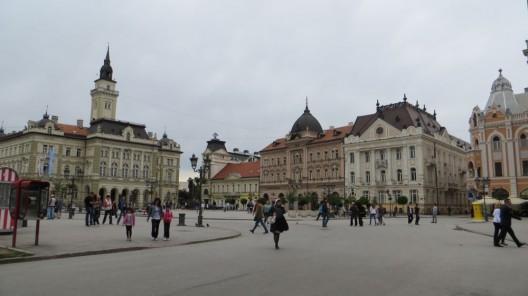 Im Zentrum von Novi Sad