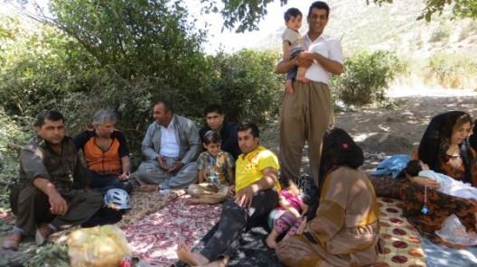 Nette Begegnung mit Familie aus Erbil