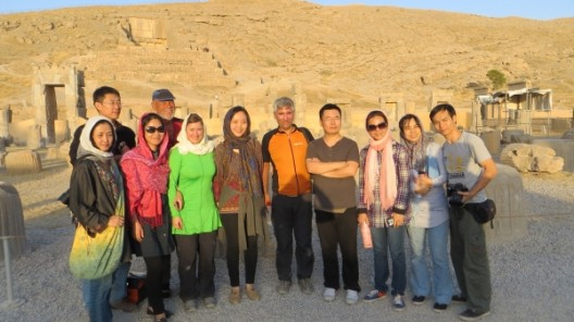 In Persepolis treffen wir auf eine chinesische Reisegruppe