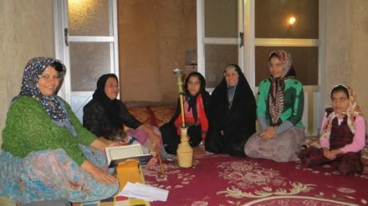 bei Alis Familie in Firuz Abad, unser letzter Abend mit Hosein