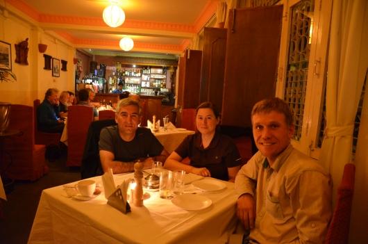 gemütlicher Abend mit dem deutschen Radreisenden Sebastian