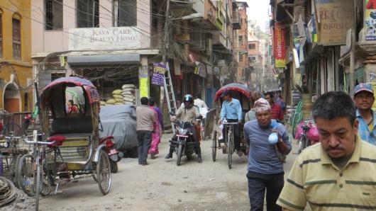 typisches Strassenbild in Kathmandu