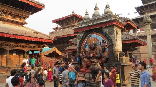 am Kathmandu Durbar Square