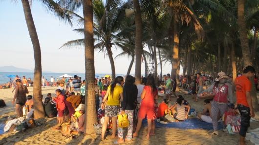 Wochenende am Strand