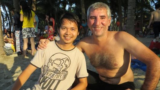 Lucky und seine Familie lernten wir am Strand kennen