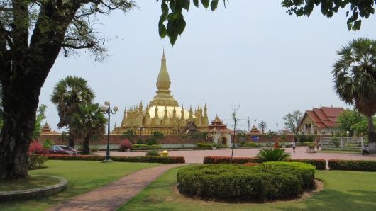 Goldener Tempel in Vientiane