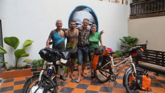 Abschied von den beiden Phils in Vientiane