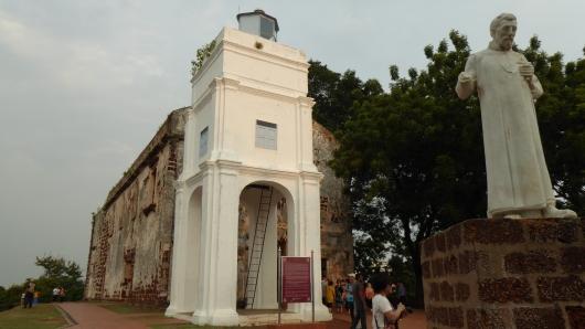 Die Ruinen der St. Pauls Kirche in Melaka