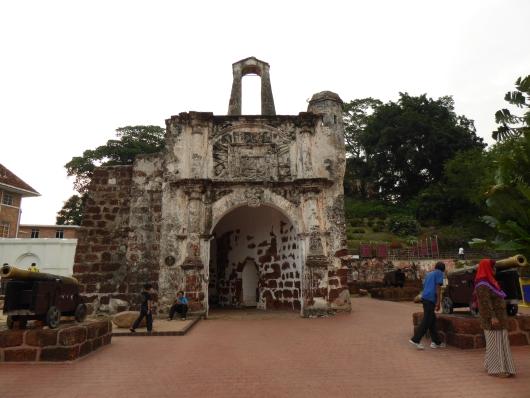 Überreste der Portugischen Festung A Famosa in Melaka