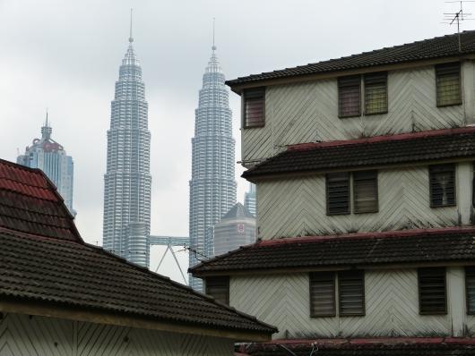 Die Petronas Tower in Kulala Lumpur