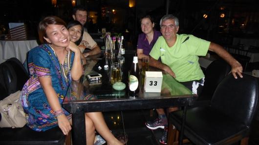 Abendessen mit Pat, Kristian und Nan in Bangkok