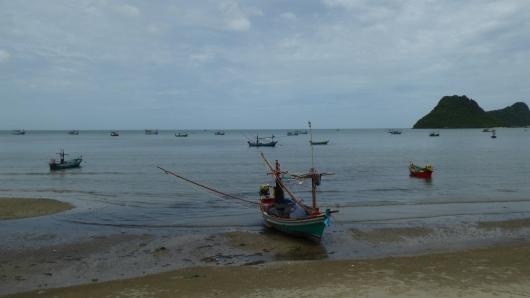 Fischerboote bei Prachuap