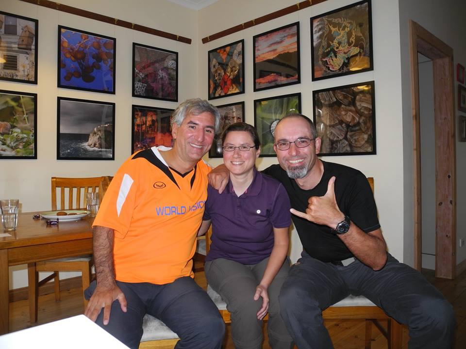 Treffen mit Reiseradler Gerd Müller
