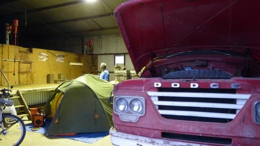 Unser Camp in Kerys Scheune