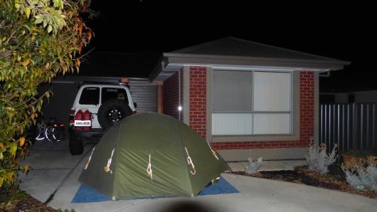 Unser Zeltplatz in einem Vorort von Adelaide