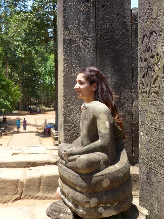 beim Tempel Bayon
