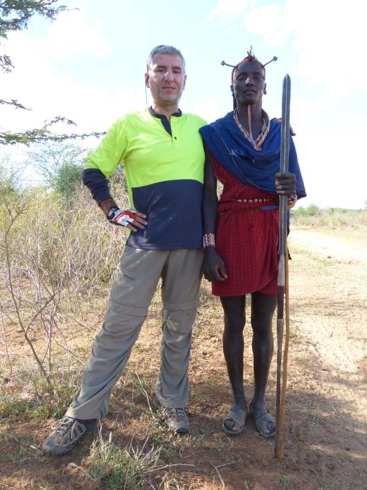 mit Koma, dem Massai
