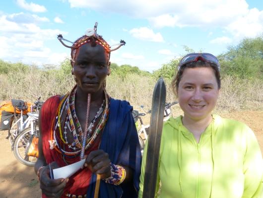 mit dem Massai Koma