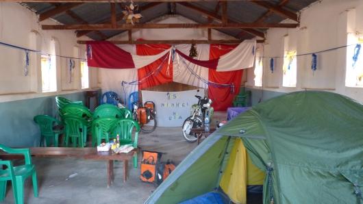 unser Camp in der Pentecoastal Church in Rungwa