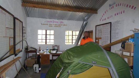 unser Camp im Schuldirektor-Zimmer