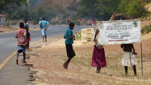 Charity-Schilder sind man überall