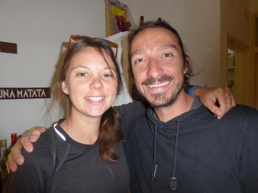 Unsere Warmshower Gastgeber Karine und Matthias in Lusaka