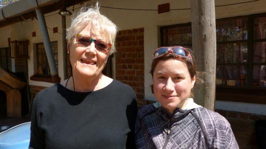 mit Elke von der Tiko Lodge