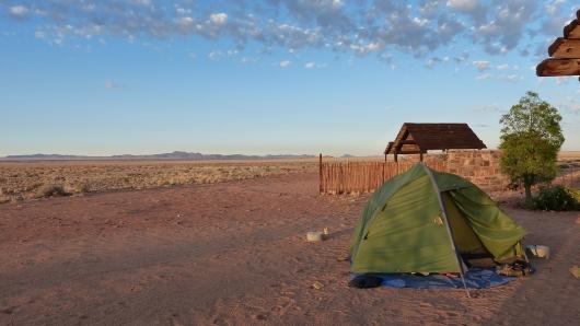 Unser Zeltplatz auf der Gästefarm Tirool