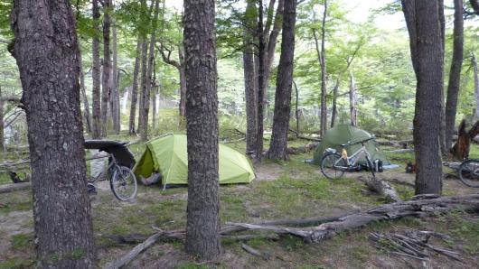 Wild Camping im Wald am Fluss