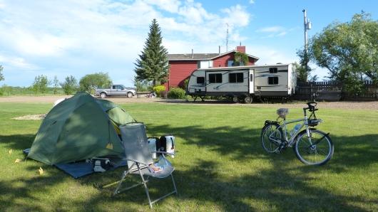 Camping auf der Farm von Matt und Brigitte