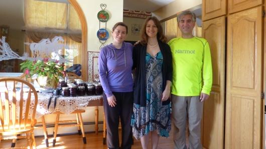 bei Corinne und ihrem Mann Ken zelteten wir im Garten