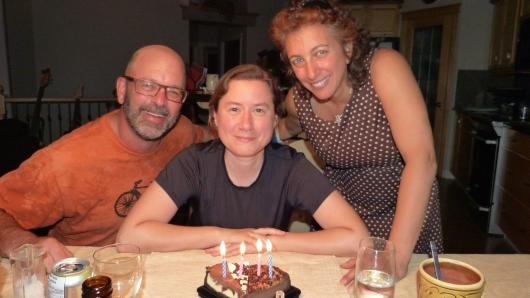 Zum Geburtstag von Dagmar hatte Jay einen kleinen Kuchen organisiert