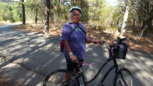 Teresa trafen wir auf dem Spokane Valley Bicycle Path, in den letzten 1,5 Jahren 192 Pfund abgenommen! Echt beeindruckend!