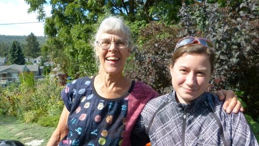 mit der lieben Mary, unserer Gastgeberin in Spokane