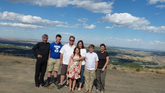 in Kennewick waren wir bei Alan, George, Lucy, Wendy und George (von links) eingeladen