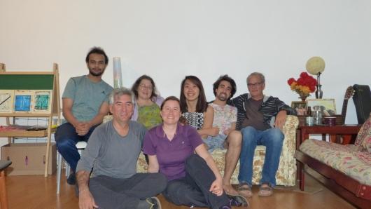 mit unseren Couchsurfing-Gastgebern Mei und Evan und Familie in Monmouth