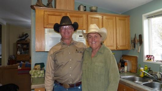 Bei den Farmern Cindy und Ron fragten wir nach einem Zeltplatz und verbrachten eine schöne Zeit mit den beiden.