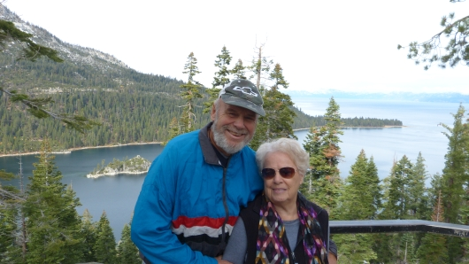 mit Hans und seiner Frau Lois am Lake Tahoe
