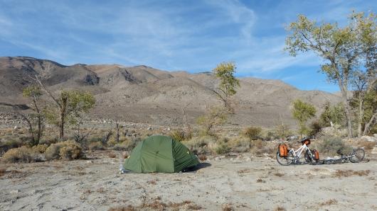 Campen in der Wüste