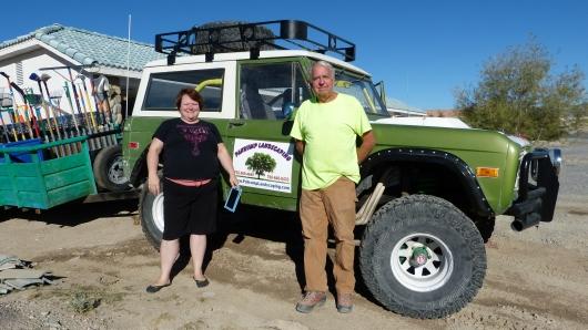 unsere Warmshowers Gastgeber Karin und Bill in Pahrump