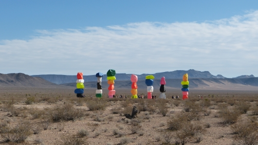 The Seven Magic Mountains bei Las Vegas