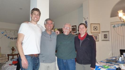 mit Sheldon und Steven, unseren Warmshower Gastgebern in Las Vegas